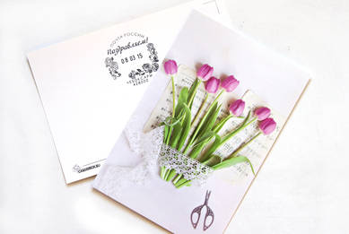 Цветочный романс+почтовый штамп