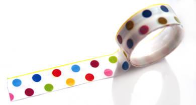 Скотч «Цветные точки»